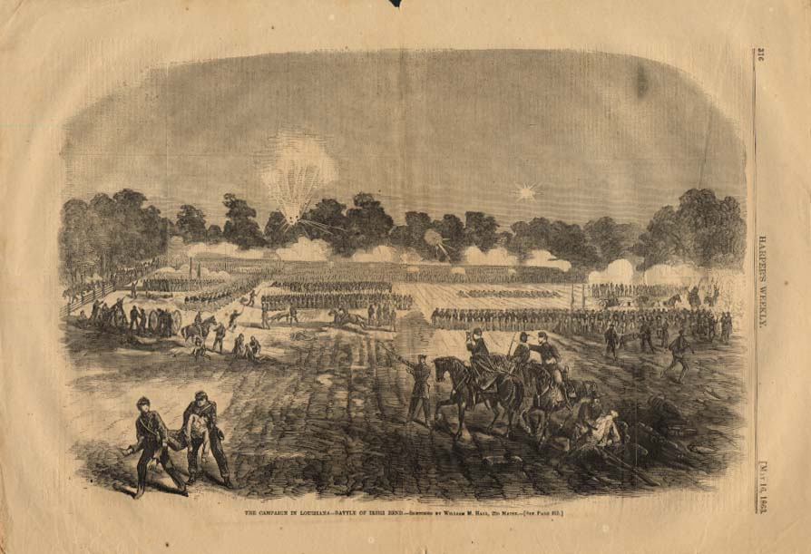 Image for HARPER'S WEEKLY 5/16 1863 Campaign for Louisiana - Battle of Irish Bend