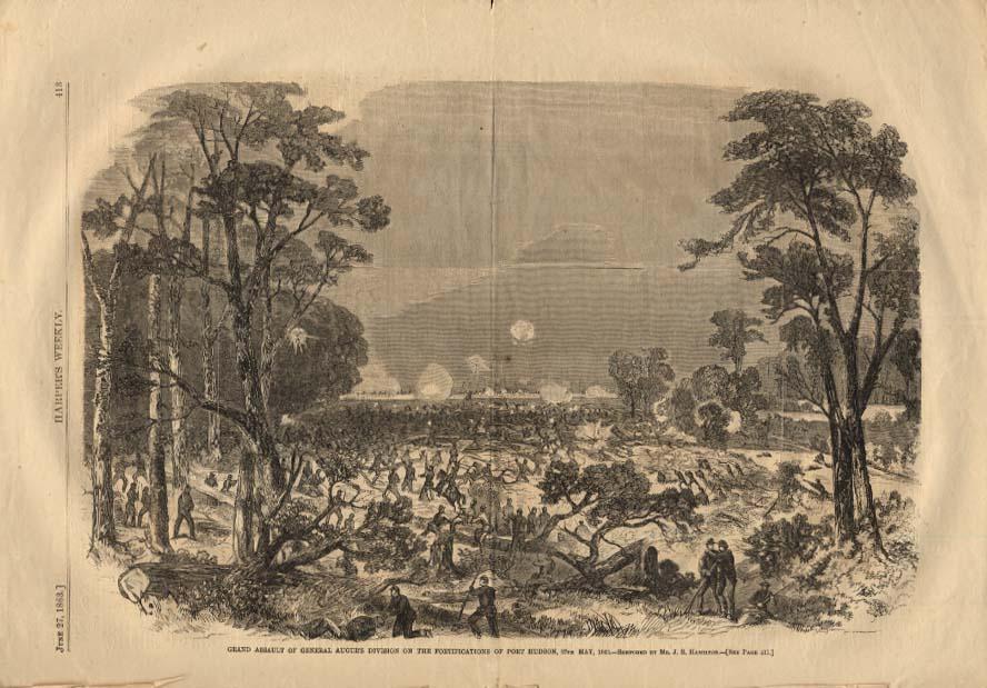 Image for HARPER'S WEEKLY 6/27 1863 Gen Augur's Assault on Port Hudson 5/27 1863