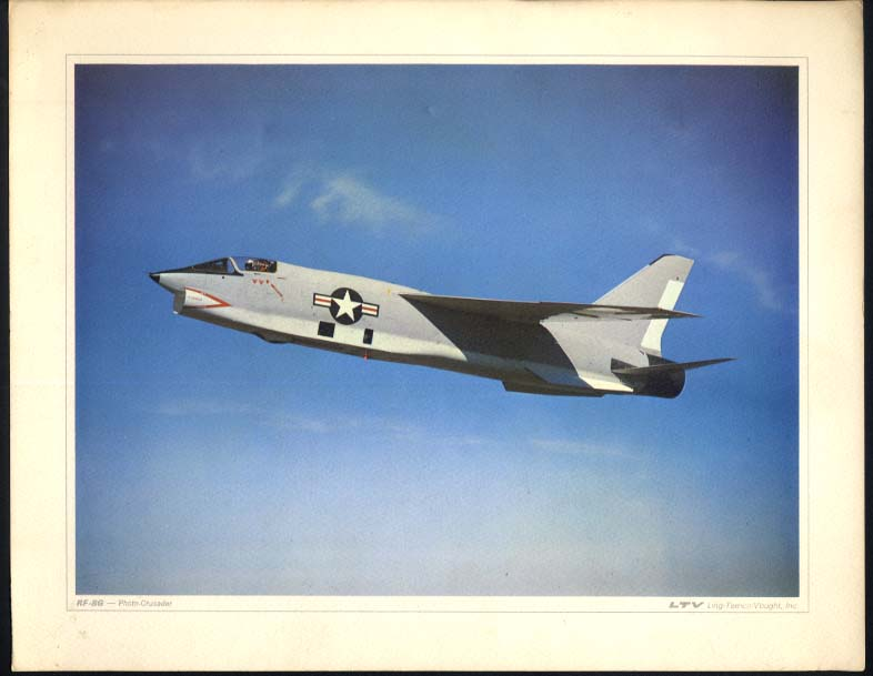 US Navy RF-8G Vought Crusader Photo Gator color print LTV ca 1960s