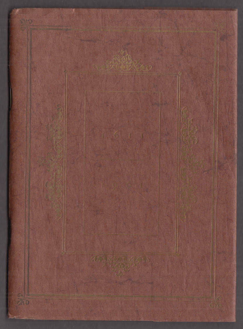 Typophiles Monograph #62 The King James Version 1st 350 Years 1611-1961
