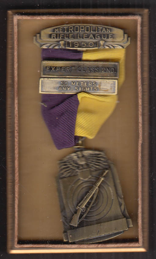 Metropolitan Rifle League Expert Class 2nd 50m Any Sights medal 1950