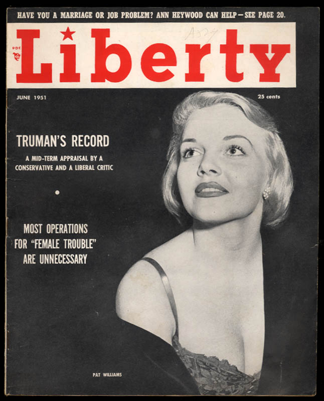 LIBERTY 6 1951 Truman; Liz Taylor; Billy Daniels; Kerima; Dutch Guiana; Utrillo