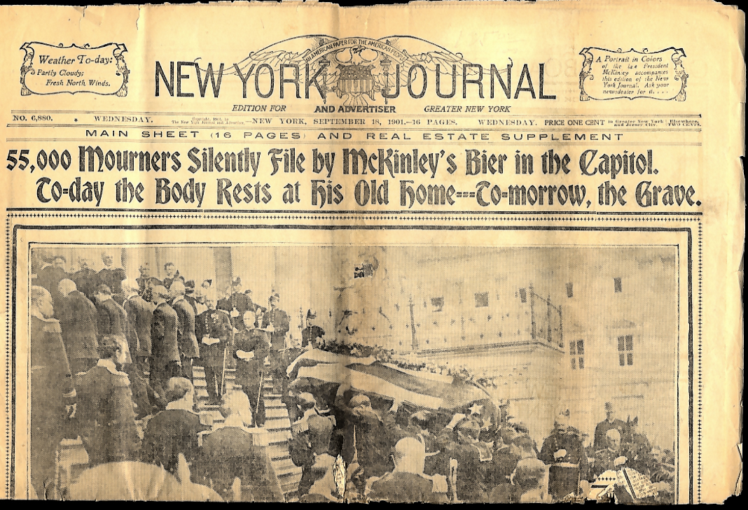 NEW YORK JOURNAL 9/18 1901 President McKinley lies in state