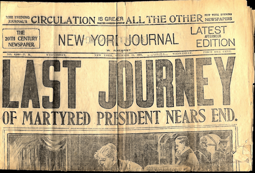NEW YORK JOURNAL 9/18 1901 President McKinley last journey home