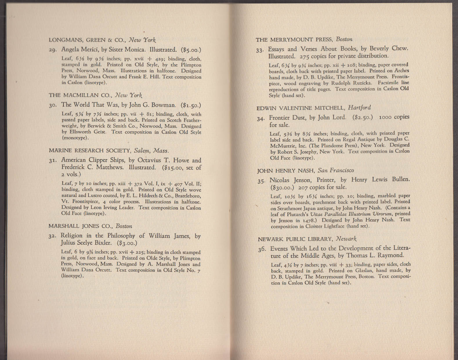 AIGA Fifty Books of the Year Exhibition Catalog 1927