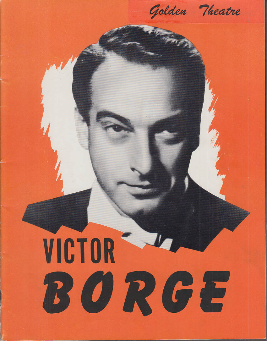 Victor Borge Concert Tour Souvenir Program Golden Theatre 1953