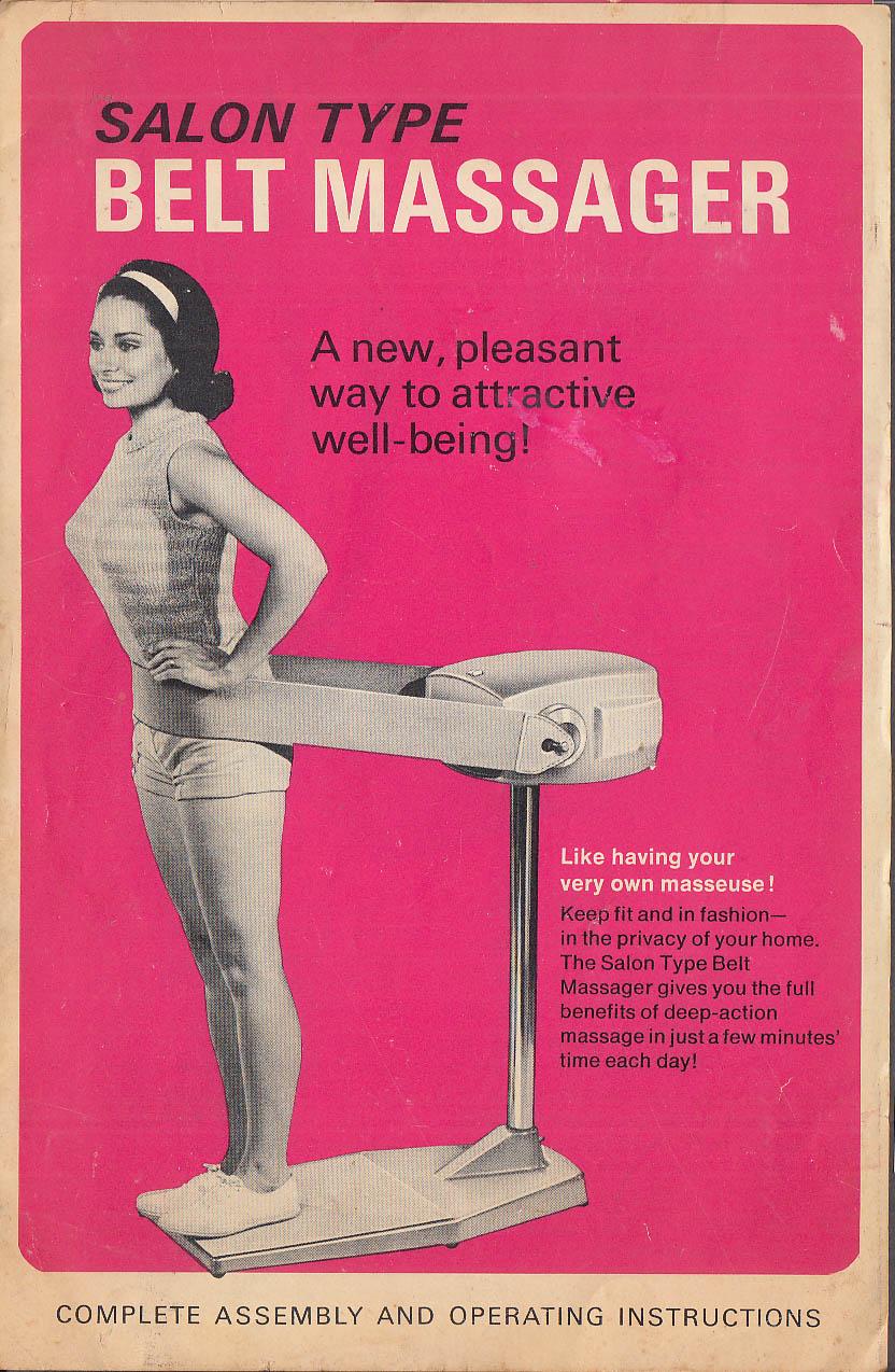 Salon Type Belt Massager Assembly & Operating Instructions folder 1960s