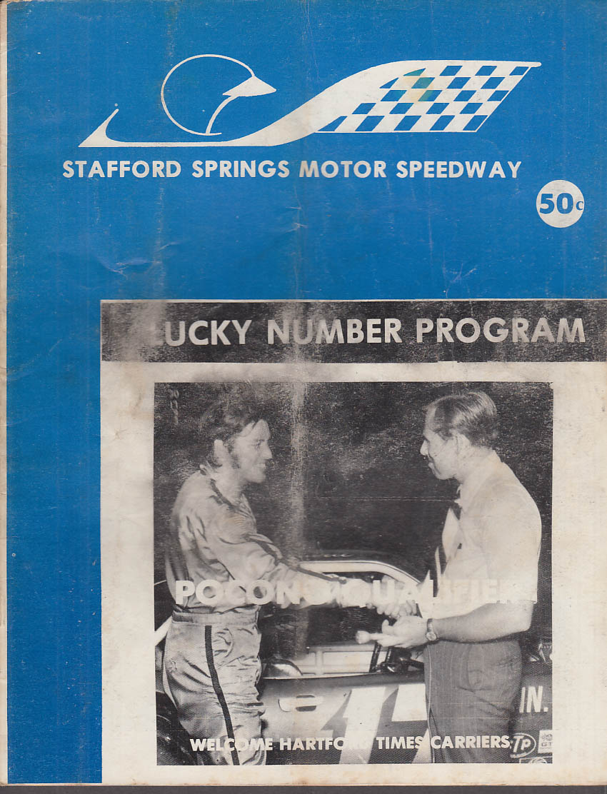 Stafford Springs Motor Speedway Program 7/29 1972