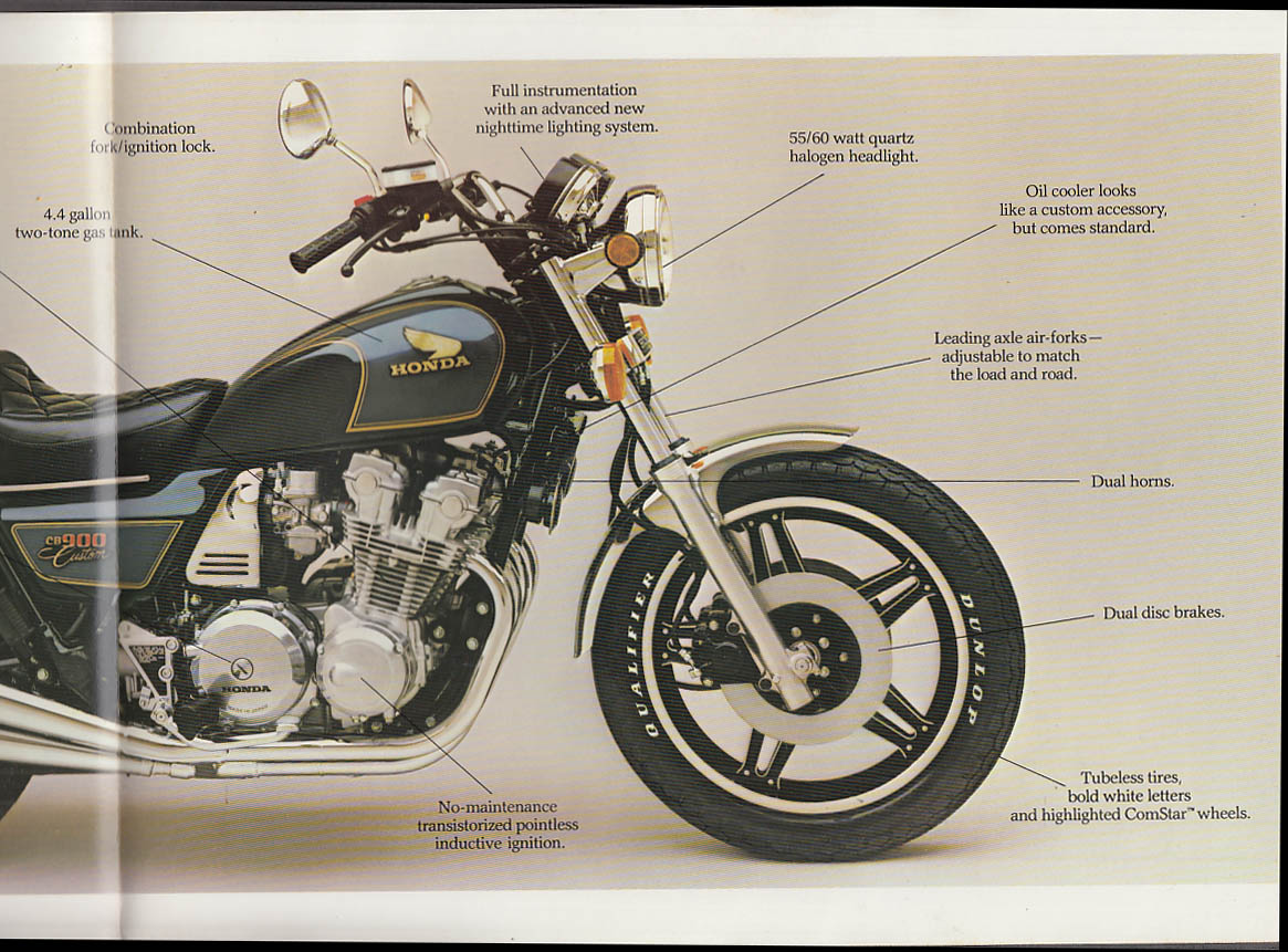 1981 Honda CB900 Custom Motorcycle sales folder