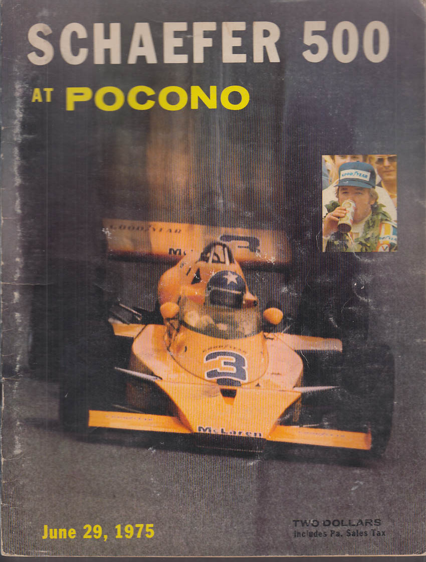 USAC Championship Schaefer 500 Pocono official program 1975