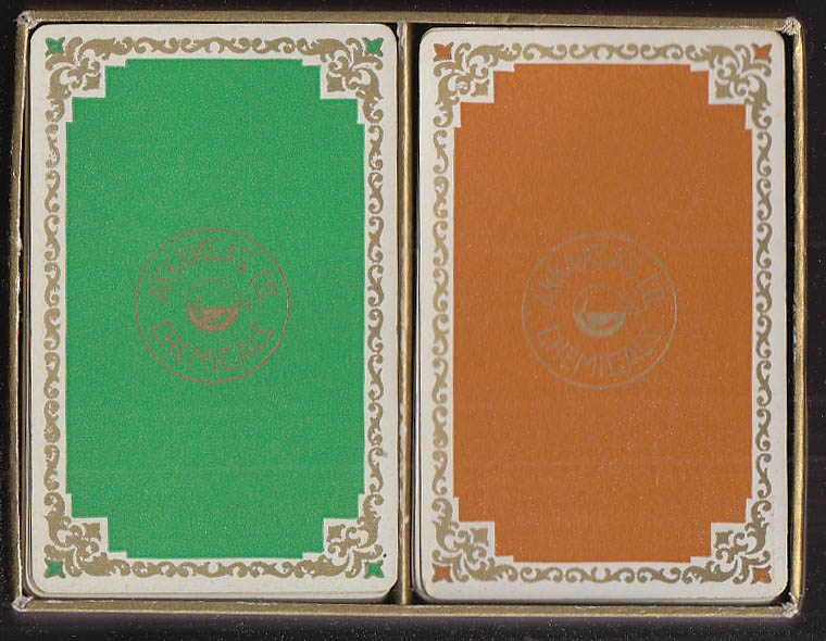 United Indigo & Chemical Co Boston MA double deck of playing cards in box