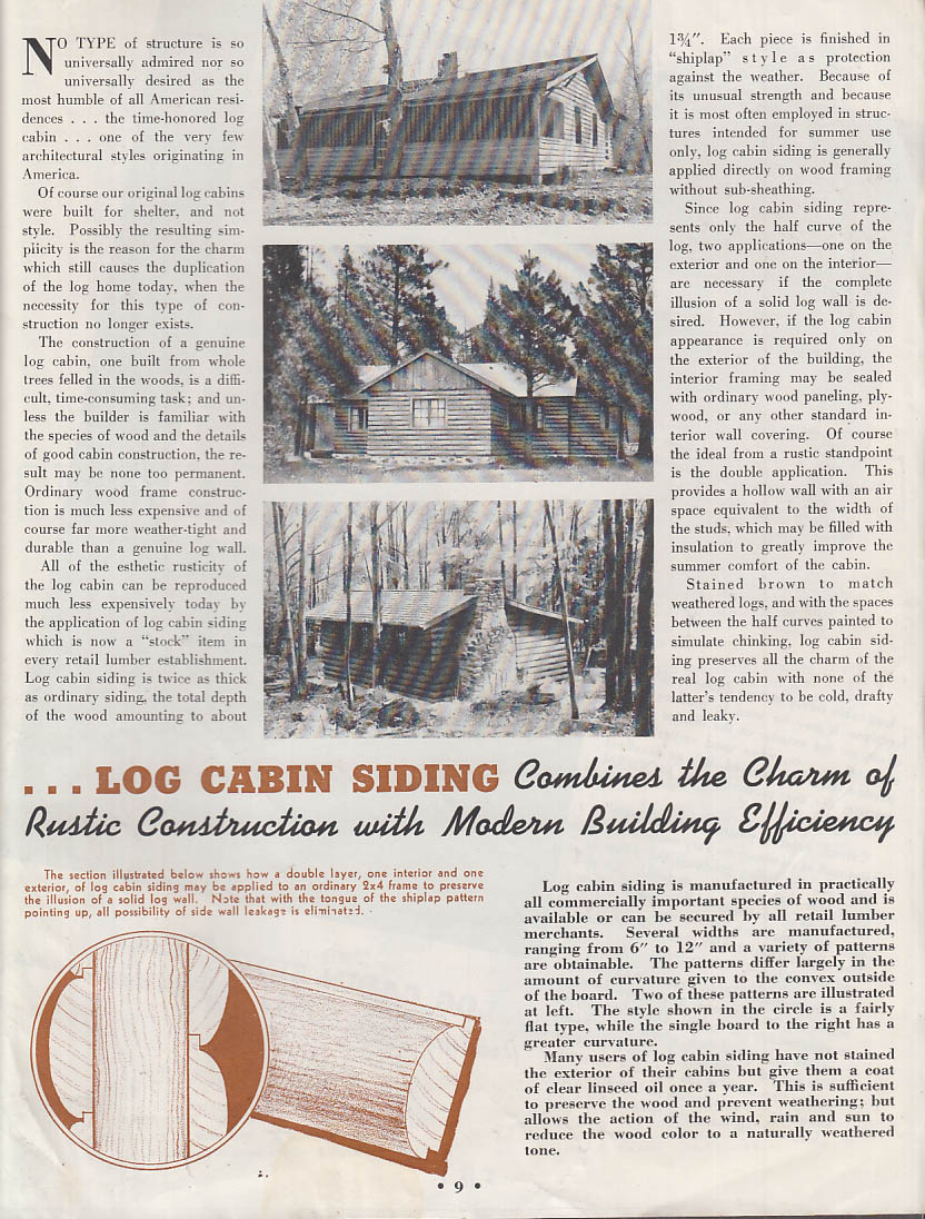 HOME 8 1939 baseball at 100; home building ideas; log cabin