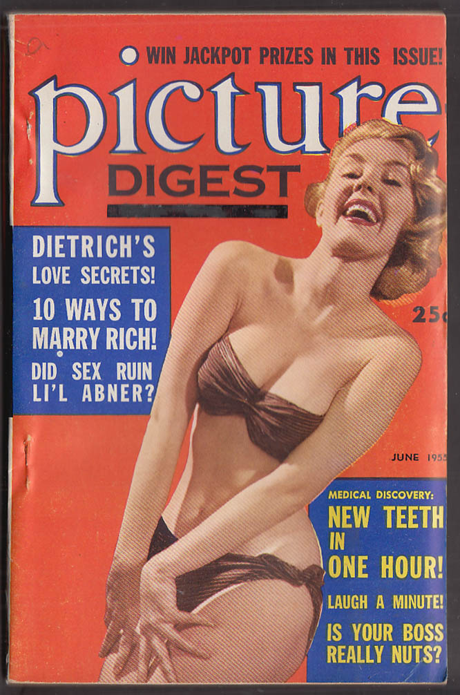 PICTURE DIGEST 5 1955 Gregory Peck L'il Abner Marlene Dietrich Bing amyl nitrate