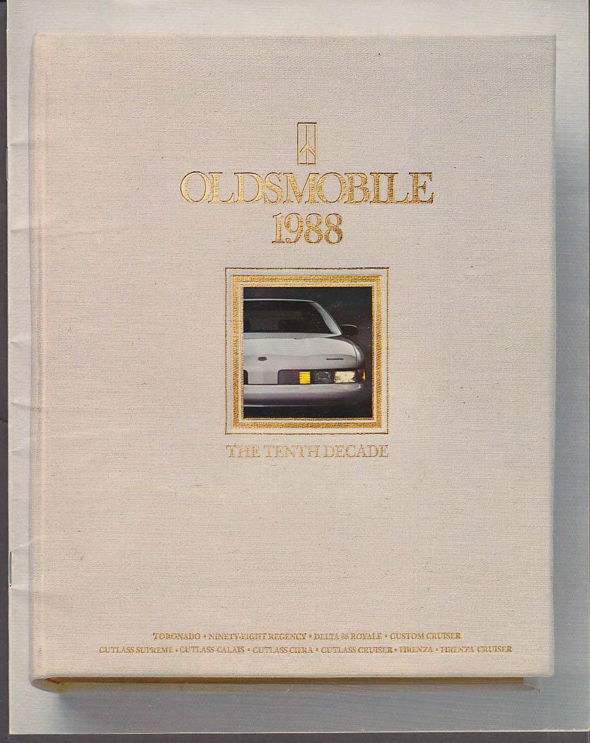 1988 Oldsmobile brochure Toronado 98 Delta 88 Cutlass Supreme Firenza Calais +
