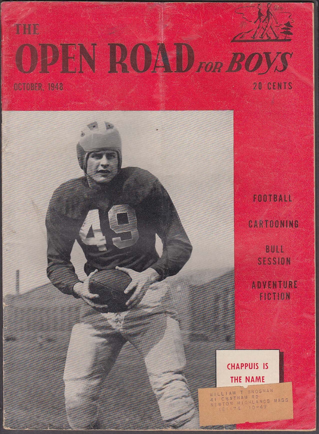 OPEN ROAD for BOYS Bob Chappuis Bill Holman ++ 10 1948