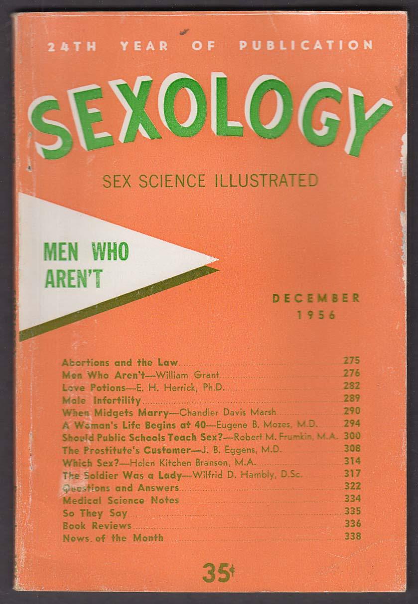 SEXOLOGY Abortions Prostitution Midgets ++ 12 1956