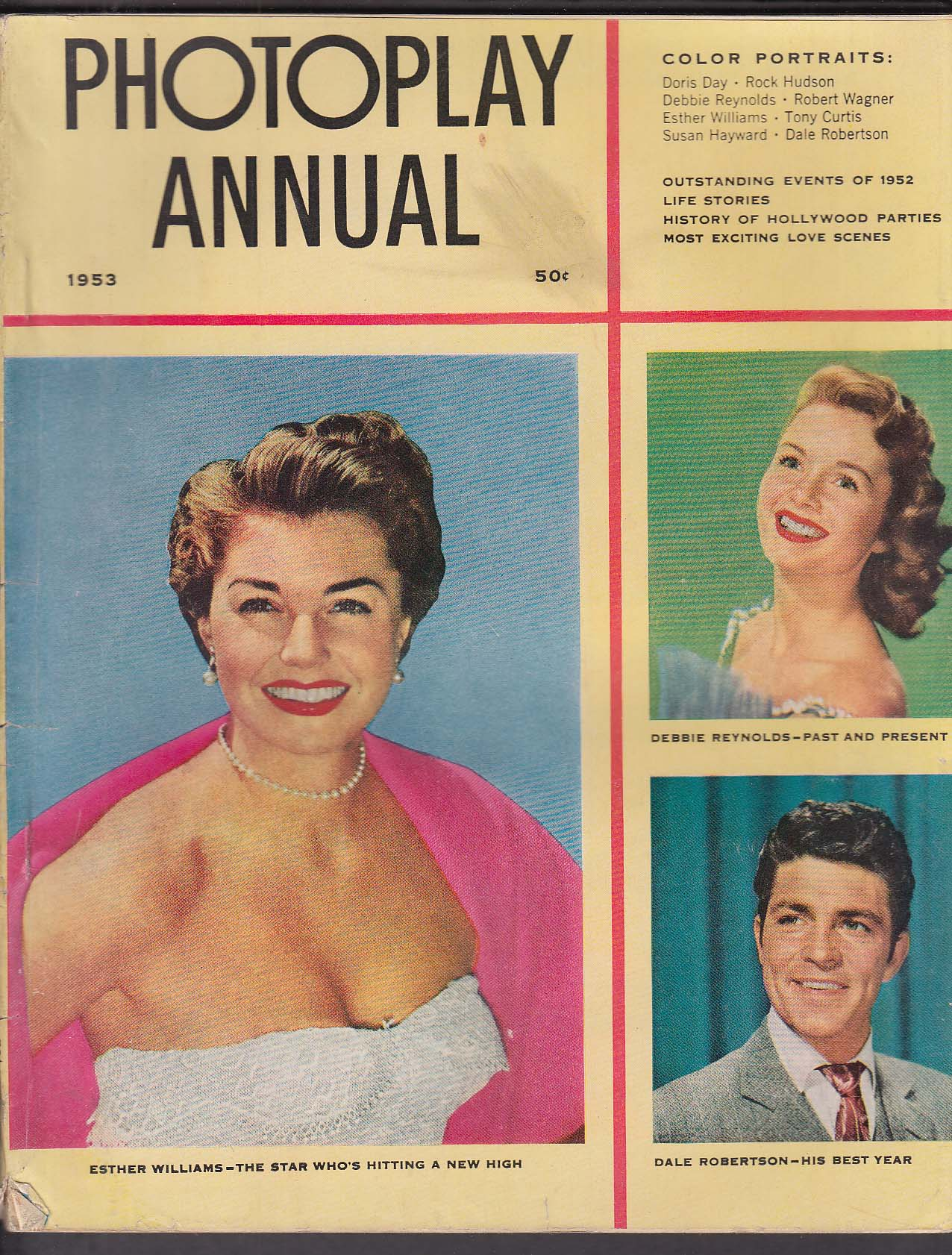 PHOTOPLAY ANNUAL 1953 Esther Williams Debbie Reynolds Dale Robertson ++
