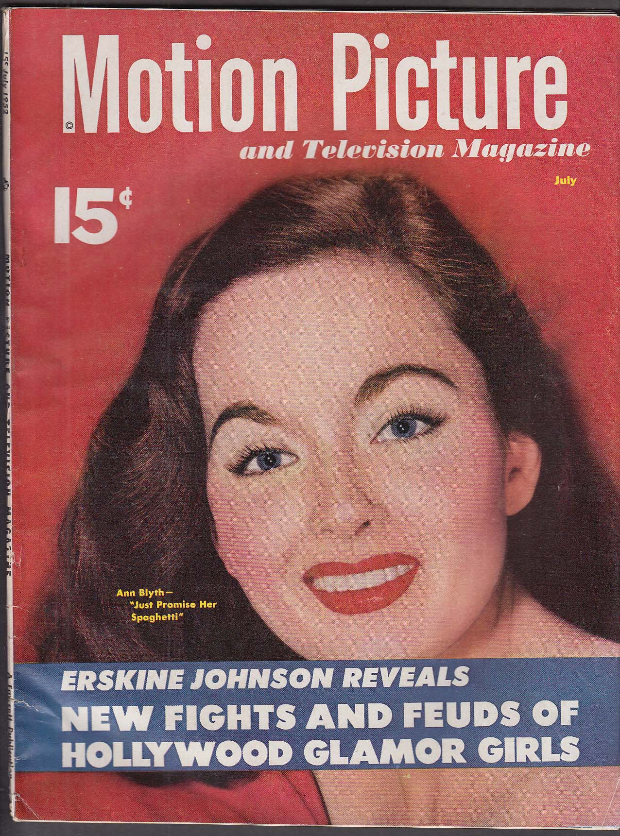 MOTION PICTURE Ann Blyth Erskine Johnson Marlon Brando ++ 7 1952
