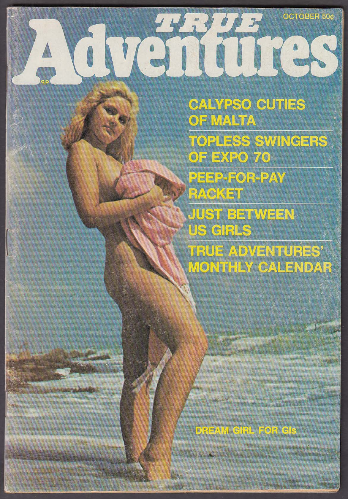 TRUE ADVENTURES Men's Magazine nude pictorials ++ 10 1970