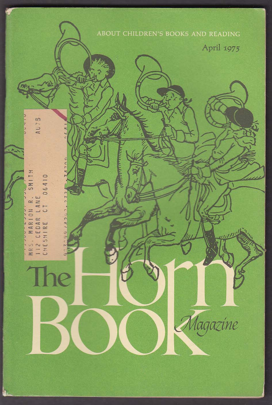The HORN BOOK Igor Galanin Virginia Hamilton Gerald McDermott ++ 4 1975