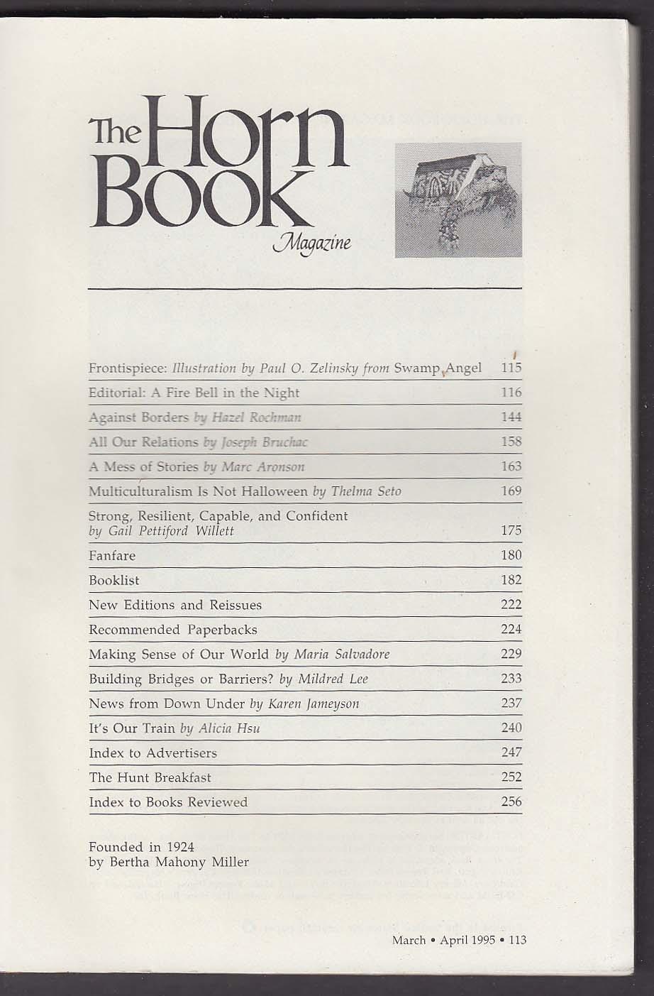 The HORN BOOK Jerry Pinkney Paul O Zelinsky Hazel Rochman Thelma Seto + 3-4 1995