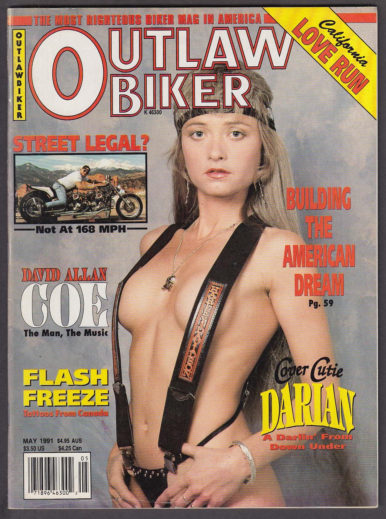 OUTLAW BIKER David Allan Coe Richard St Clair Nanaimo Tattoo Emporium ++ 5 1991