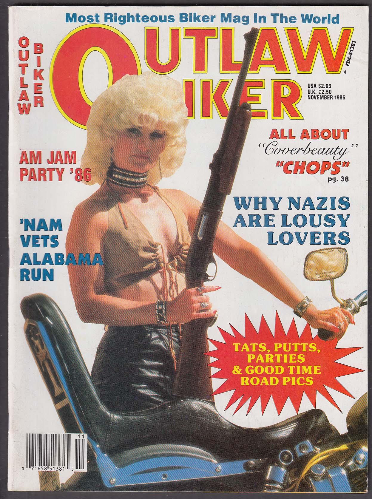 OUTLAW BIKER Am Jam Party Vietnam Veterans Alabama ++ 11 1986