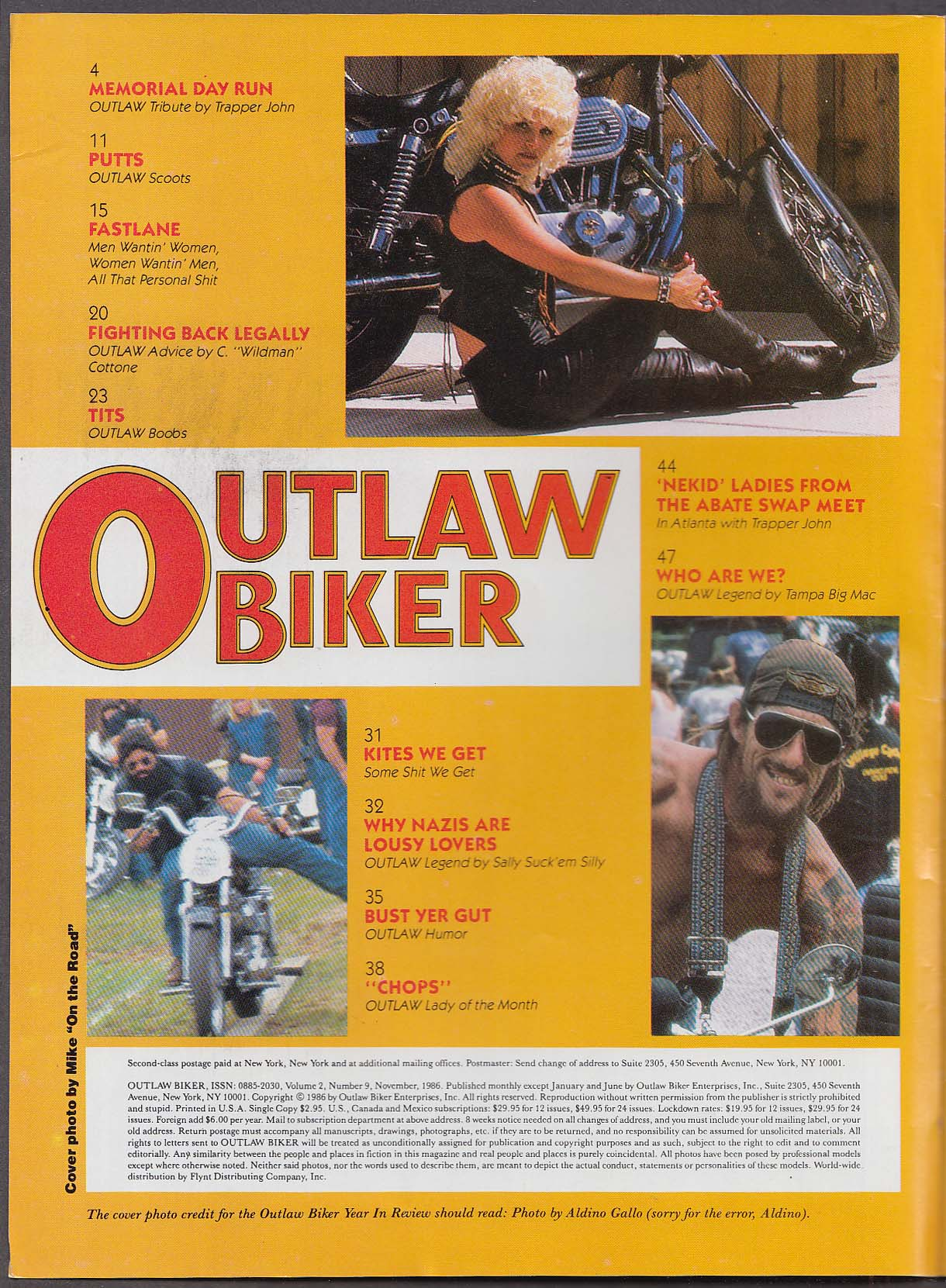 OUTLAW BIKER Am Jam Party Vietnam Veterans Alabama ++ 11 1986
