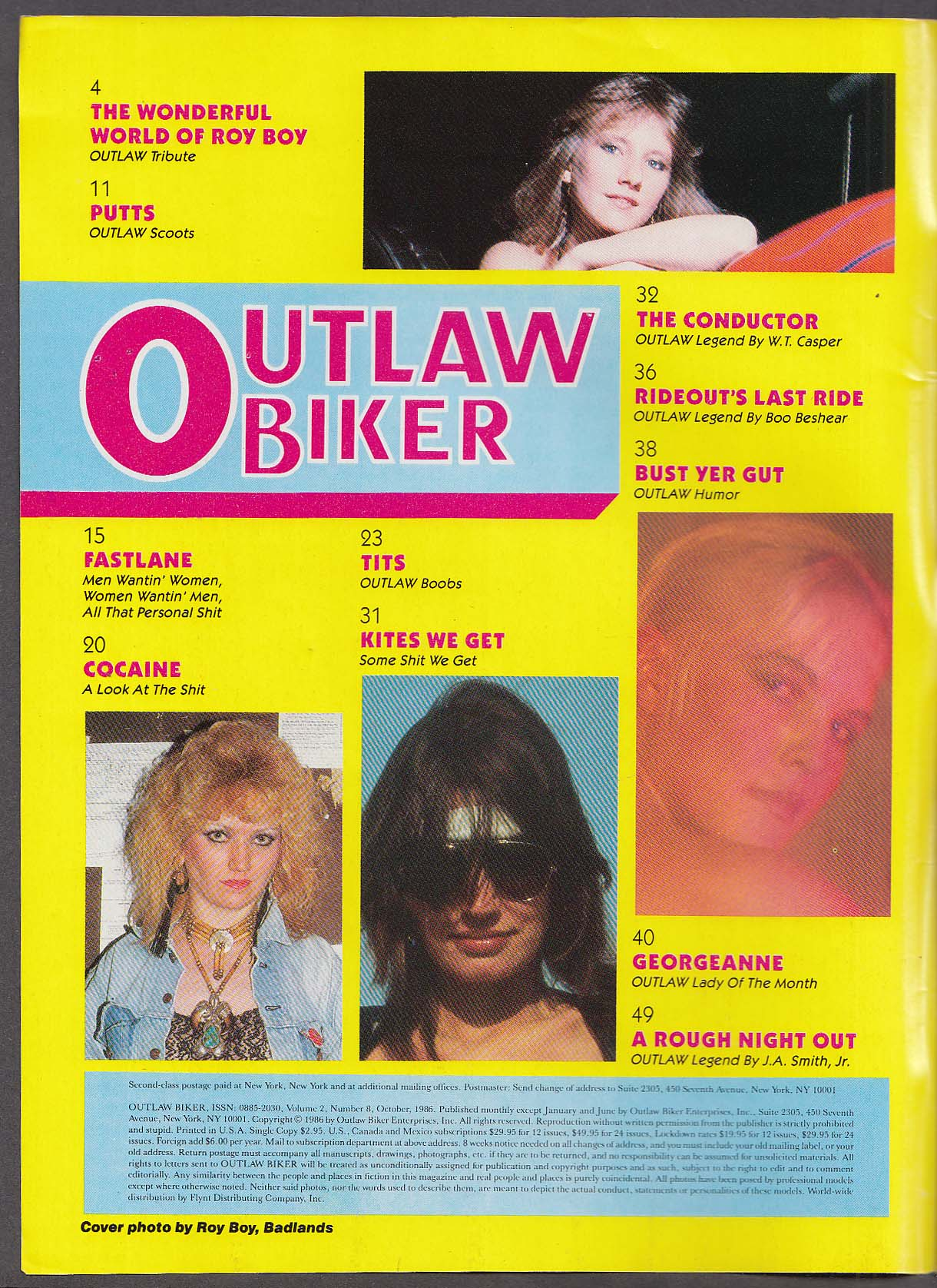 OUTLAW BIKER Hells Angels Roy Boy Cocaine Vietnam POW-MIA ++ 10 1986
