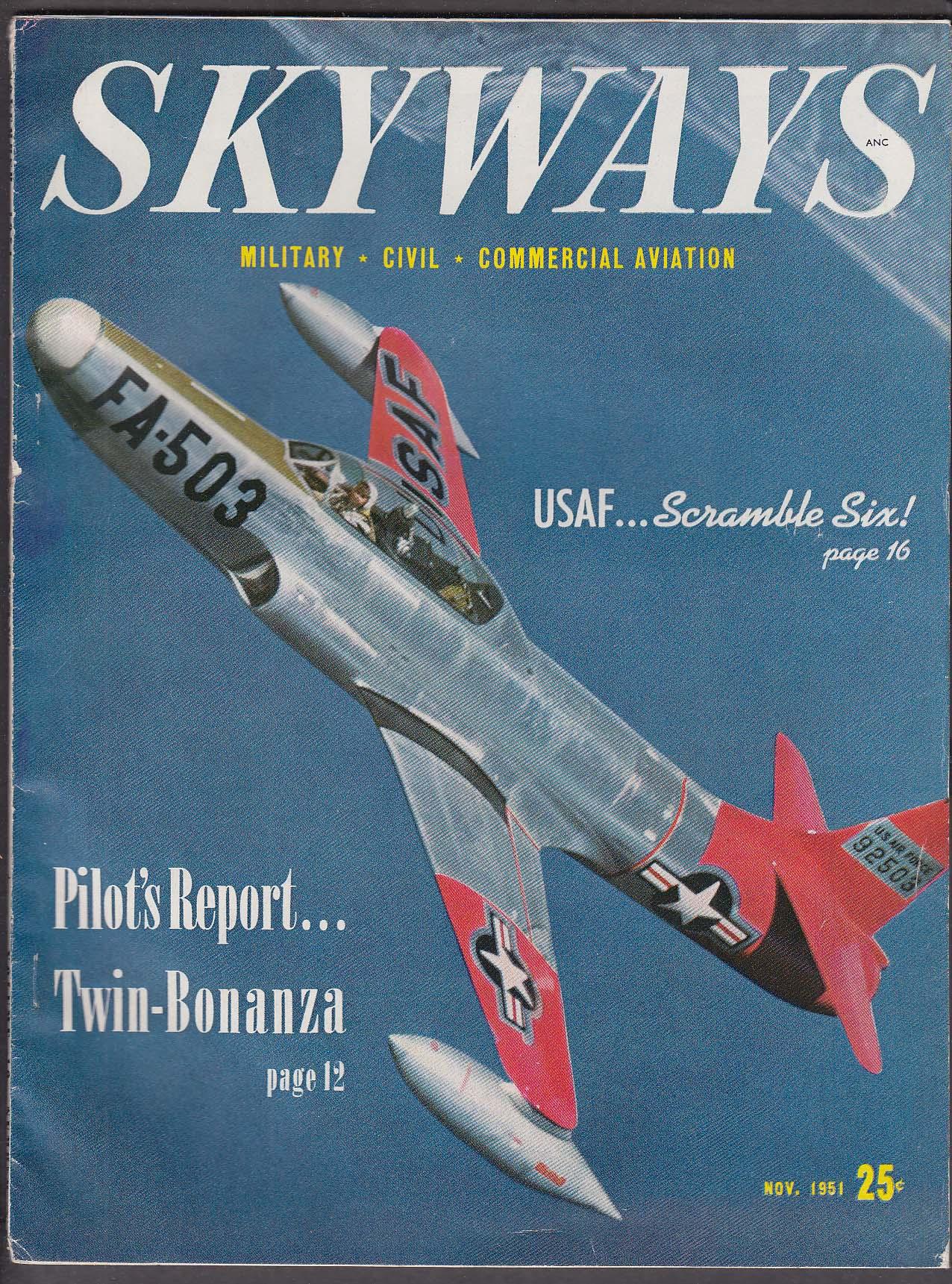SKYWAYS Twin-Bonanza pilot report Oil-Field Helicopter Paris Air Show ++ 11 1951
