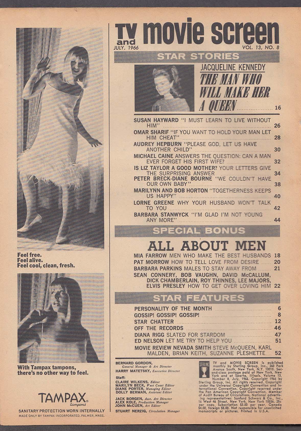 TV & MOVIE SCREEN Jackie Kennedy Liz Taylor Mia Farrow David