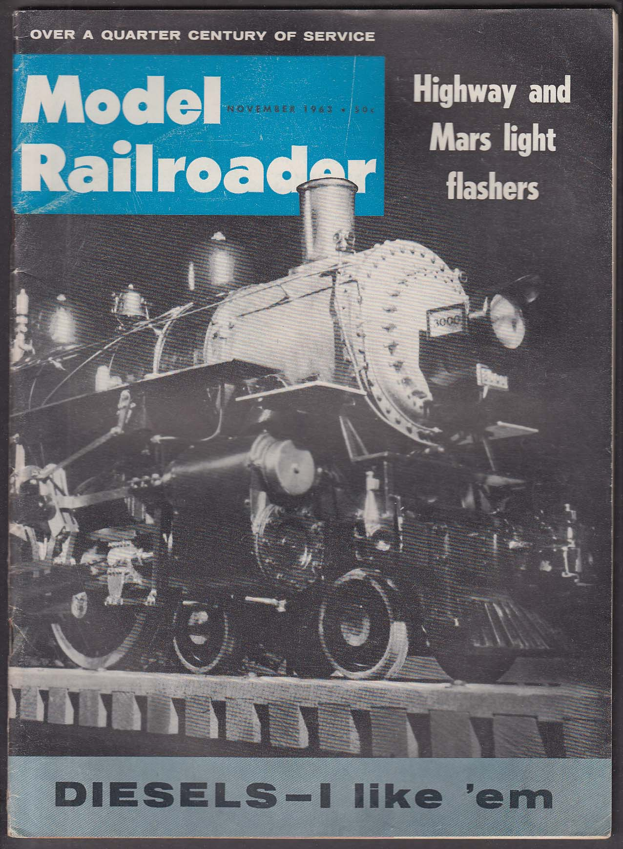 MODEL RAILROADER Highway & Mars light flashers; C&O White Sulphur Spring 22 2963