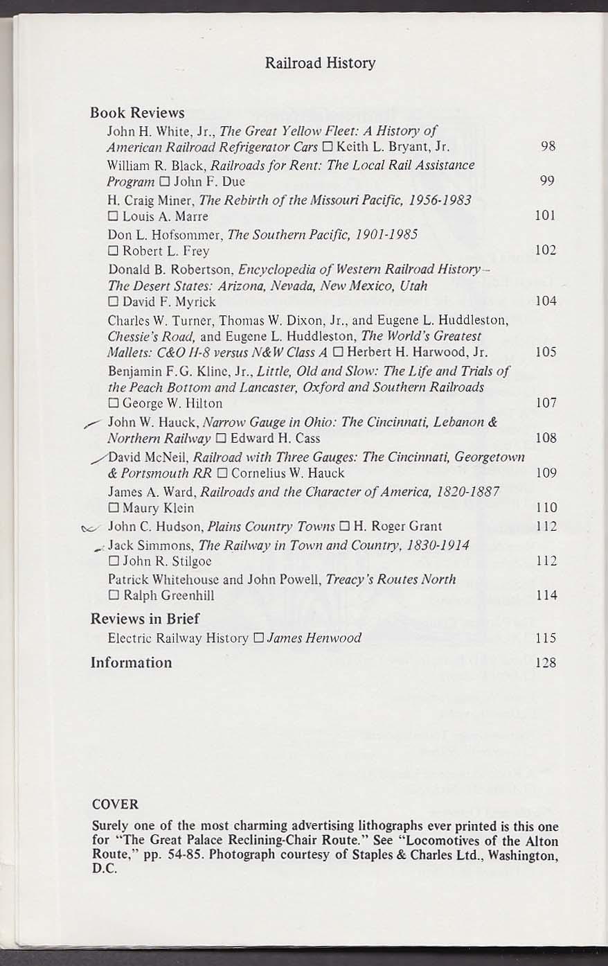 RAILROAD HISTORY #156 Edwin Noyes Maine Daniel Gunn Canada Spring 1987