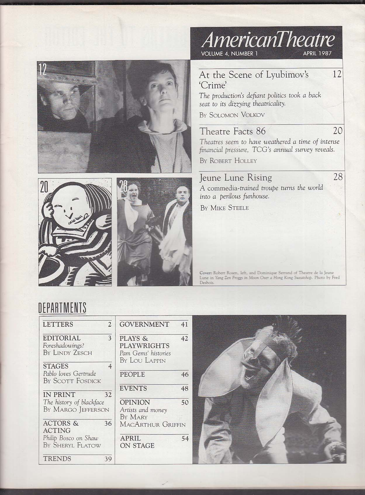 AMERICAN THEATRE Jeune Lune Lyubimov Robert Rosen ++ 4 1987