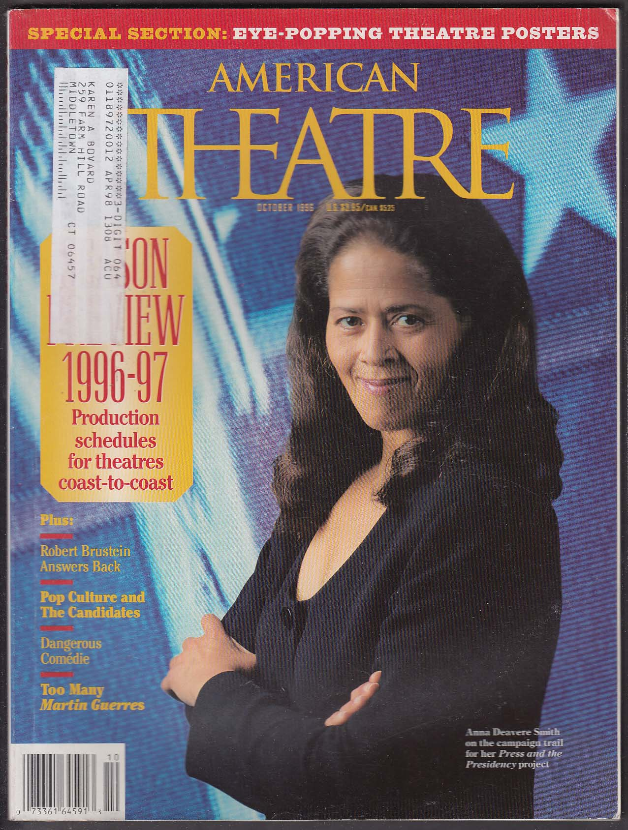 AMERICAN THEATRE Anna Deavere Smith Robert Brustein Martin Guerres ++ 10 1996