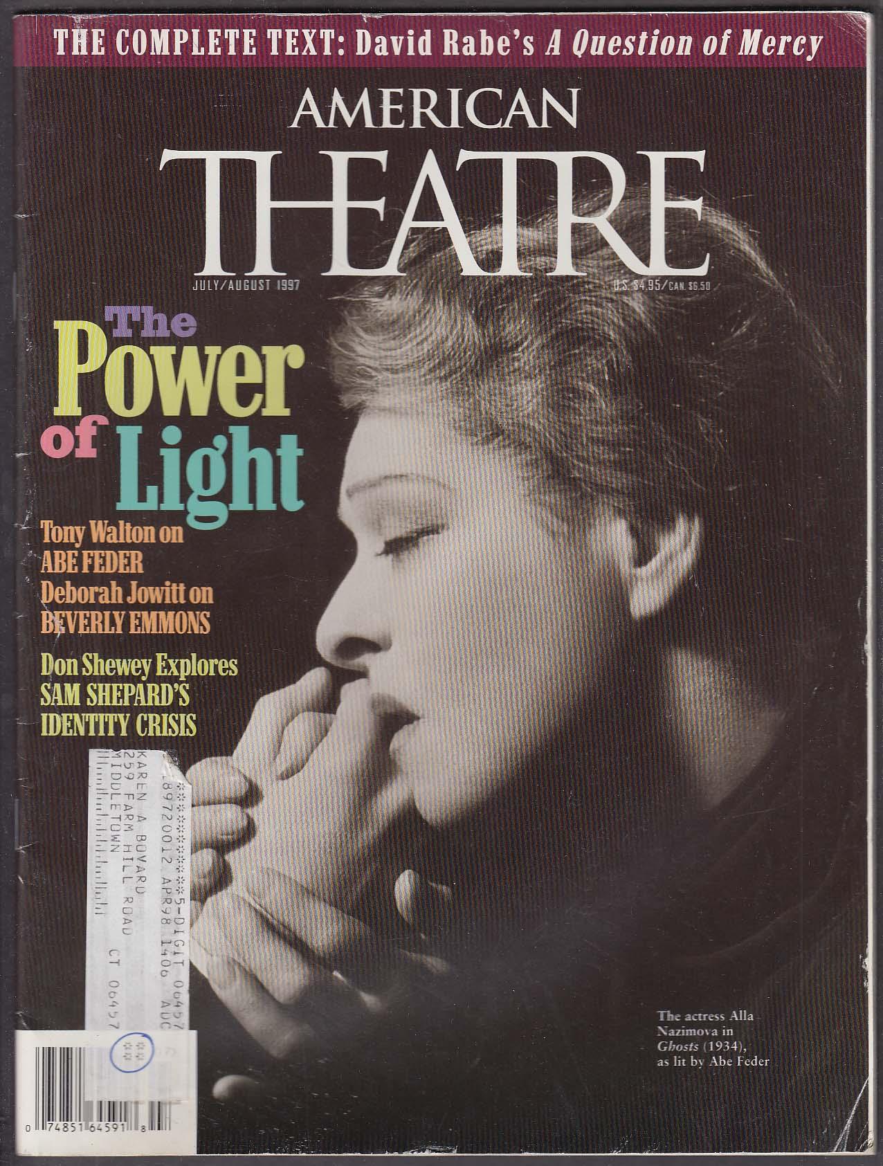 AMERICAN THEATRE Alla Nazimova Abe Feder Beverly Emmons Sam Shepard ++ 7-8 1997