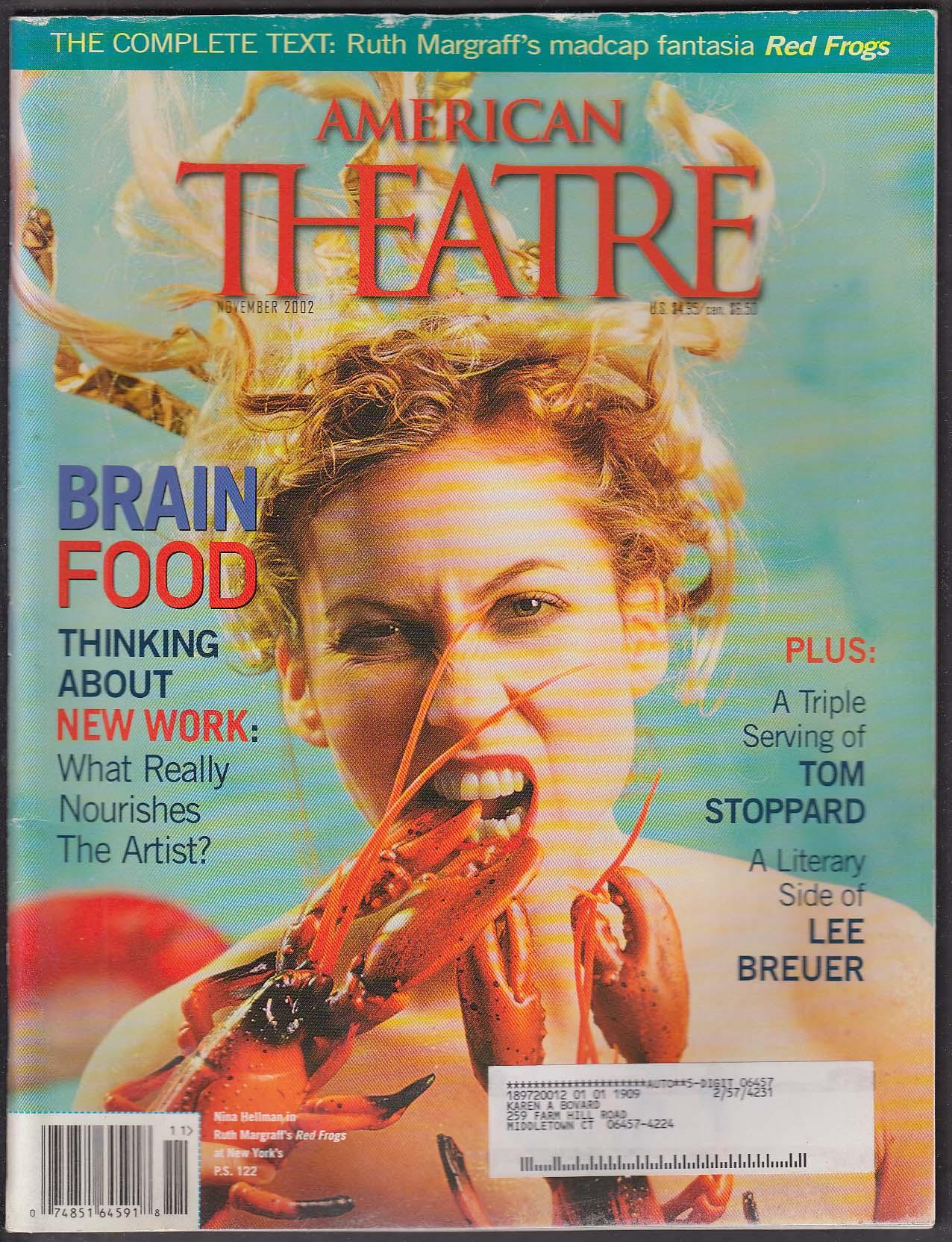 AMERICAN THEATRE Nina Hellman Tom Stoppard Lee Breuer Ruth Margraff ++ 11 2002
