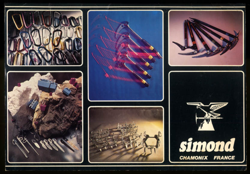 Simond French Mountaineering Equipment Catalog 1980-1 Chamonix