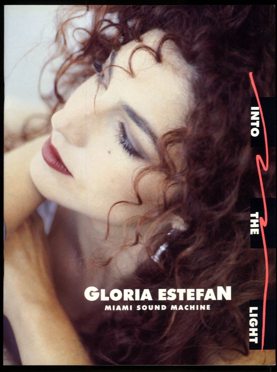 Gloria Estefan Miami Sound Machine Into the Light concert tour program 1991