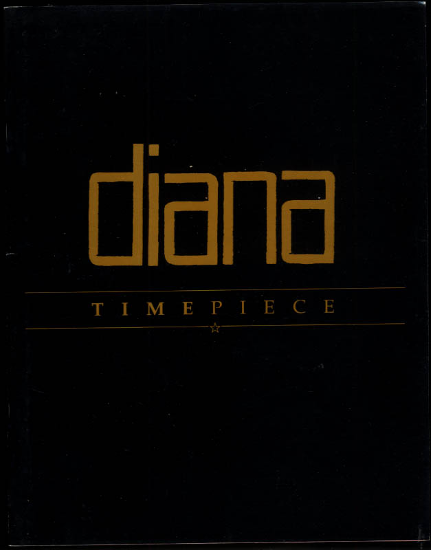 Diana Ross Timepiece Workin' Overtime Tour souvenir program 1989