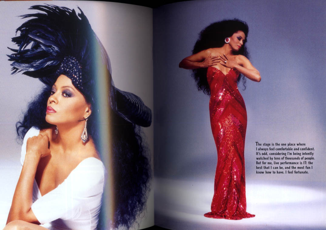 Diana Ross Live Here & Now Tour Backstage Pass souvenir program 1991