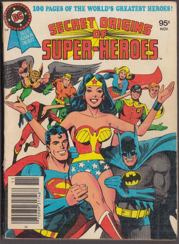Secret Origins of Super-Heroes Fall 1979 Wonder Woman Batman Superman Aquaman