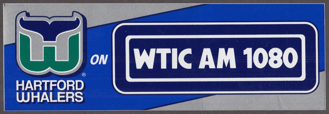 Hartford Whalers on WTIC AM 1080 bumper sticker schedule 1995-1996