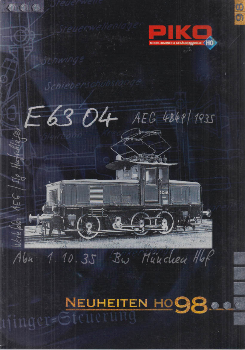 Piko HO-Gauge Electric Trains Catalog NEW for 1998