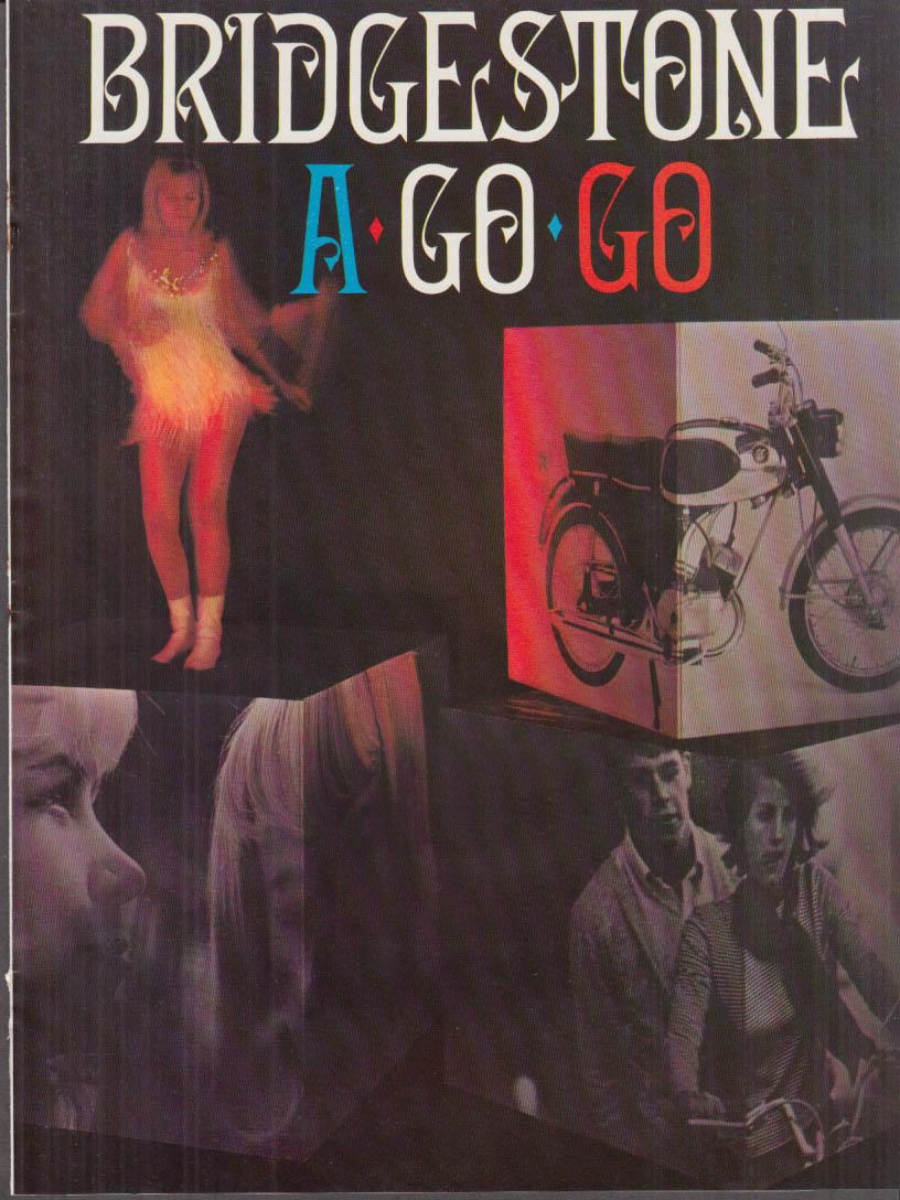 Bridgestone A Go Go motorcycle magazine ad insert 1966 175 90 60 50