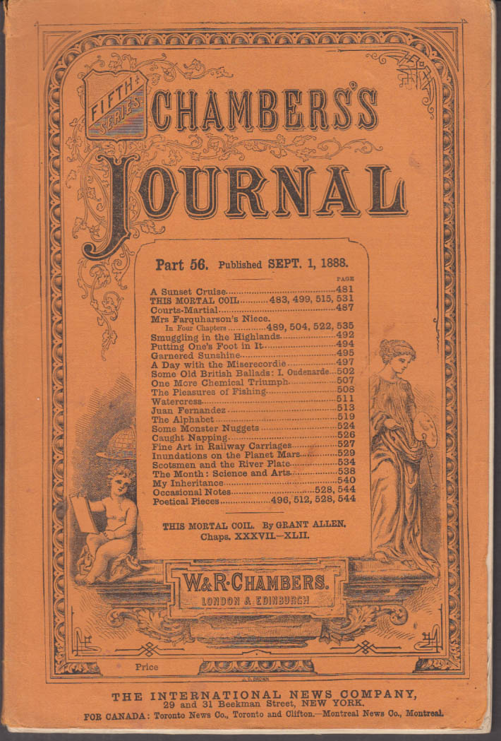 CHAMBERS'S JOURNAL 9 1888 Courts-Martial; Planet Mars; Australian gold nuggets