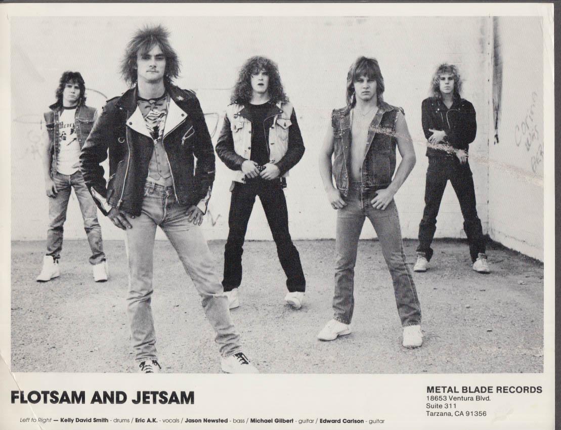 Flotsam & Jetsam Metal Blade Records promo print Newsted & Carlson ca 1985