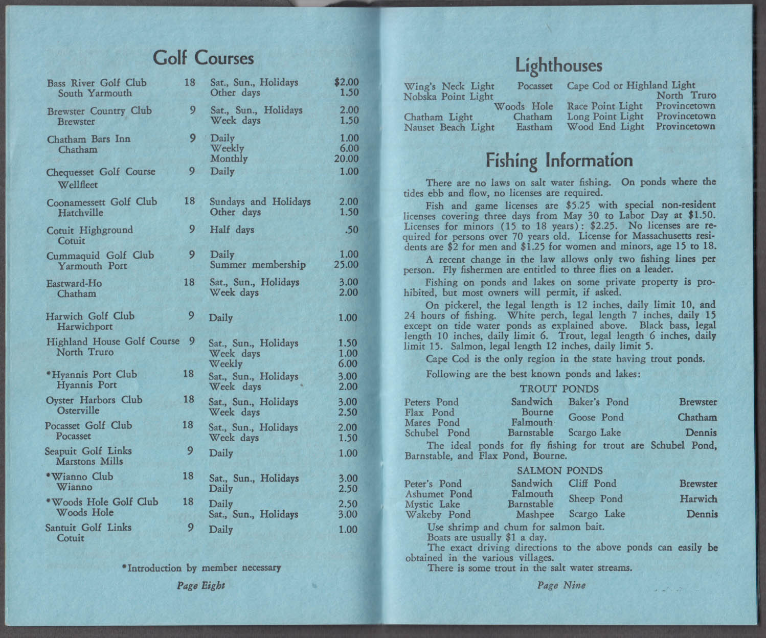 A Guide to Cape Cod ca 1930s Chamber of Commerce