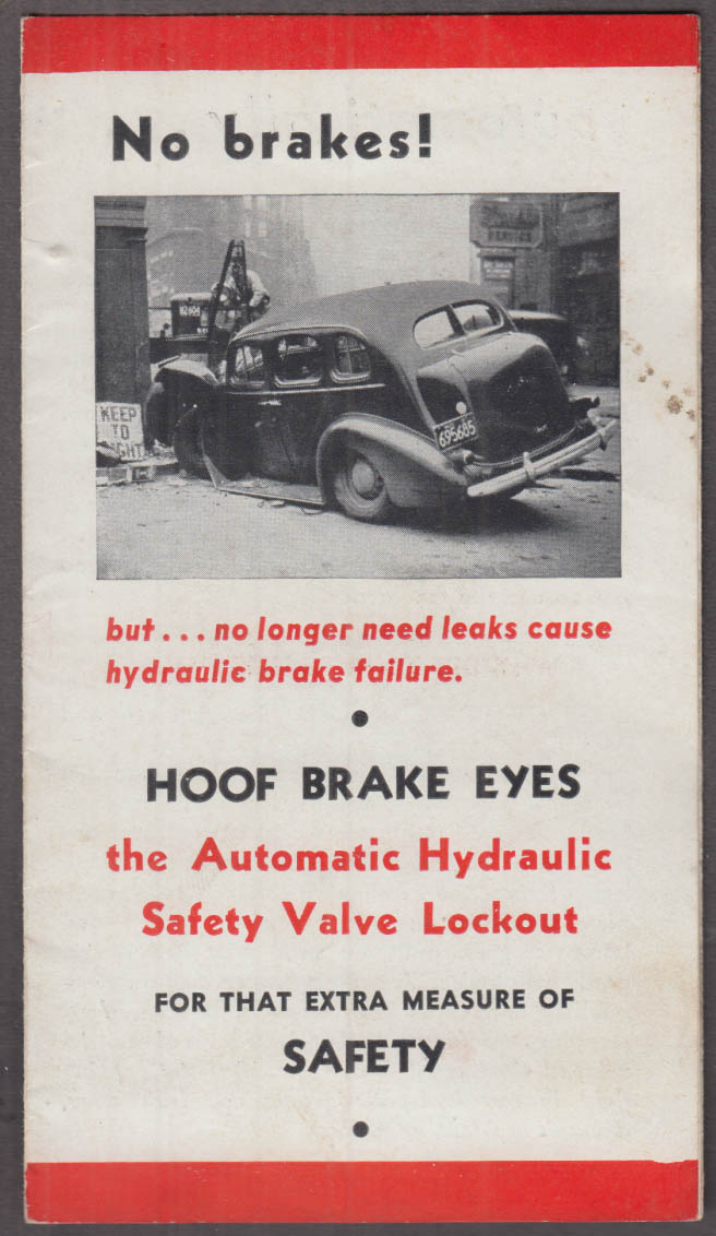 Hoof Brake Eyes Automatic Hydraulic Safety Valve Lockout automobile folder 1939