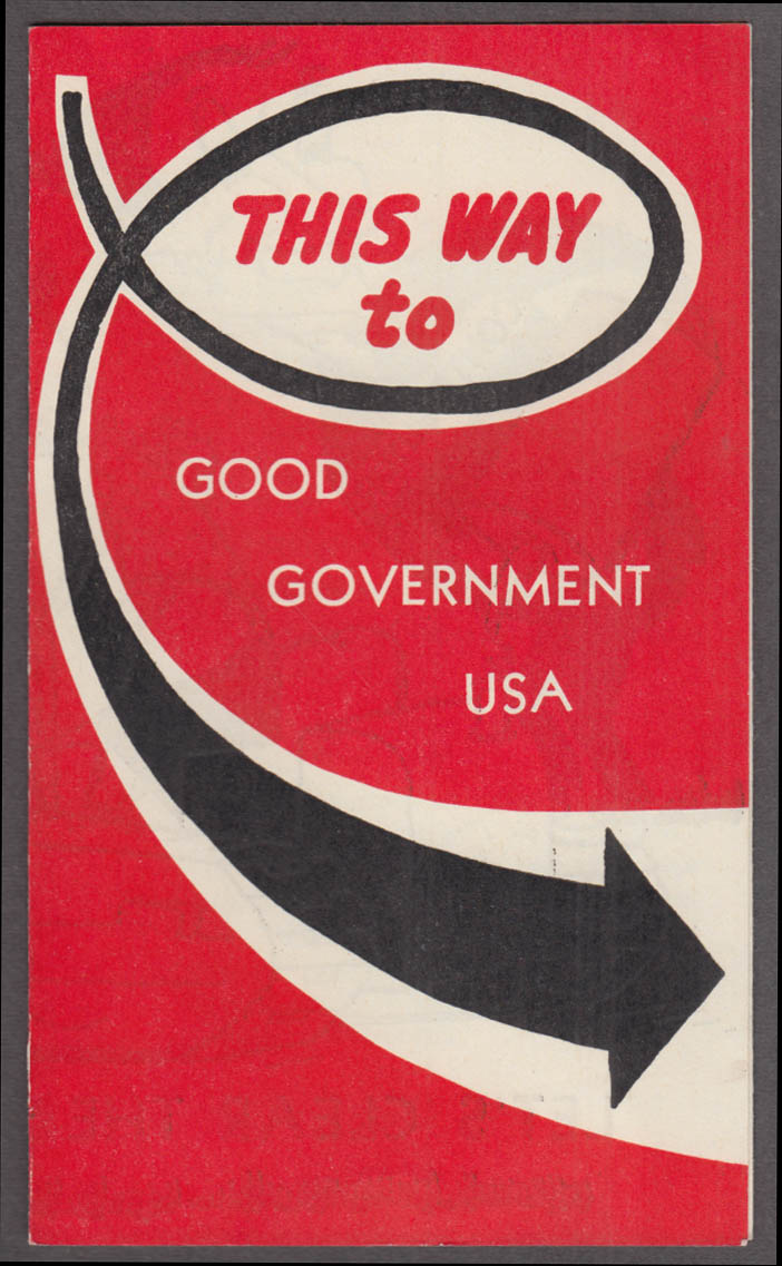 League of Women Voters This Way to Good Government USA folder 1952